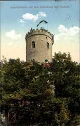 Ak Oschatz in Nordsachsen, Aussichtsturm auf dem Collmberg