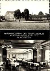 Ak Colditz in Sachsen, Handwerkerheim und Internatsschule Waldhaus, Speisesaal