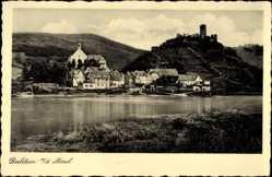Postcard Beilstein an der Mosel, Blick übers Wasser auf Haus Lipmann