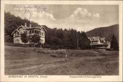 Postcard Wendefurth Thale im Harz, Blick auf das Knappschafts Erholungsheim