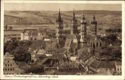 Postcard Naumburg an der Saale, Stadtblick mit Dom und Oberlandgericht