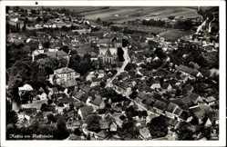 Postcard Rossla am Kyffhäuser Südharz, Blick auf den Ort, Fliegeraufnahme