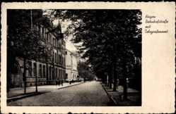 Postcard Hagen in Westfalen Ruhrgebiet, Bahnhofstraße mit Telegrafenamt