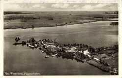 Postcard Westerland auf Sylt, Fliegeraufnahme von der Insel