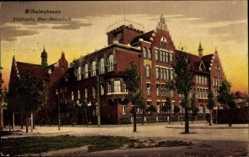 Postcard Wilhelmshaven in Niedersachsen, Städtische Ober Realschule