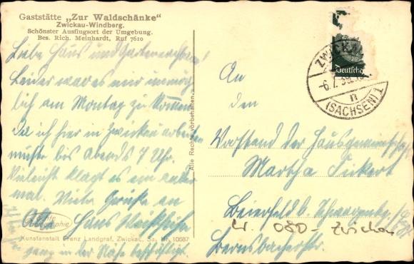 Ansichtskarte / Postkarte Windberg Zwickau in Sachsen,   akpool.de