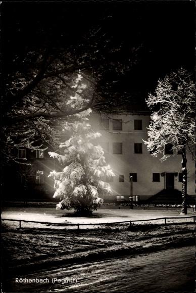 Ansichtskarte postkarte r thenbach an der pegnitz for Beleuchteter tannenbaum