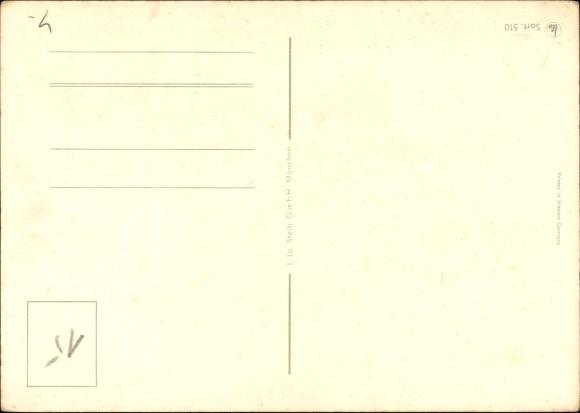 k nstler ansichtskarte postkarte sternzeichen widder. Black Bedroom Furniture Sets. Home Design Ideas