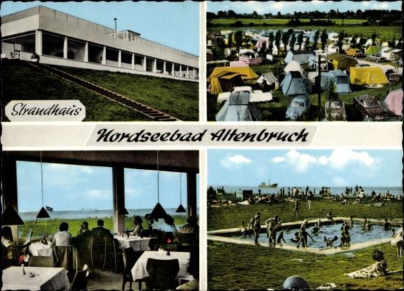 postcard altenbruch cuxhaven nordseebad strandhaus. Black Bedroom Furniture Sets. Home Design Ideas