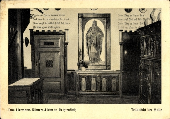 ansichtskarte postkarte rechtenfleth hagen im bremisch hermann allmers heim teilansicht der. Black Bedroom Furniture Sets. Home Design Ideas