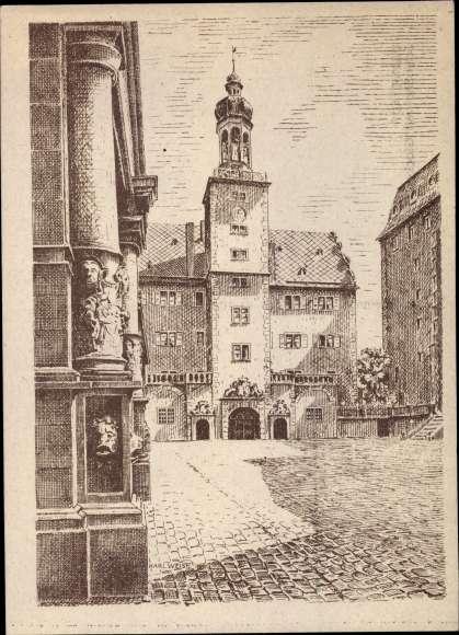 k nstler ansichtskarte postkarte darmstadt in hessen
