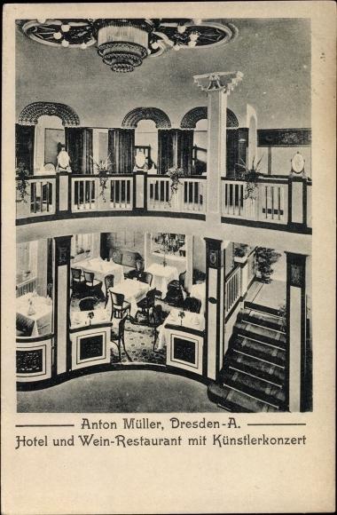 Postcard dresden zentrum hotel und weinrestaurant mit for Dresden hotel zentrum