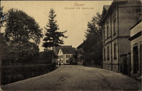postcard erbach im odenwaldkreis hessen partie in der. Black Bedroom Furniture Sets. Home Design Ideas