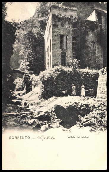 Postcard Sorrento, Vallata dei Mulini, Bachpartie