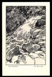 Künstler Ak Ubbelohde O., der Wasserfall