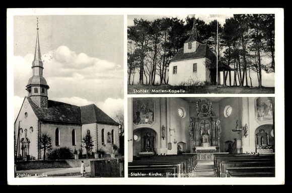 ansichtskarte postkarte stahle h xter blick zur kirche marien kapelle. Black Bedroom Furniture Sets. Home Design Ideas