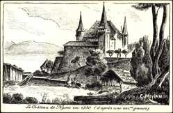 Künstler Ak E. Meylan Nyon Vaud Schweiz, Le Château