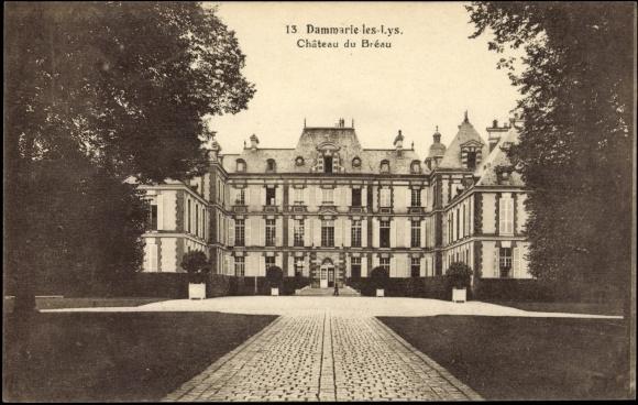 postcard dammarie les lys cpa 77 chateau du breau. Black Bedroom Furniture Sets. Home Design Ideas