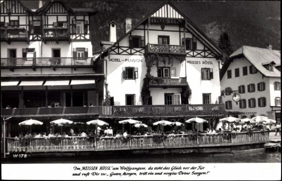 ansichtskarte postkarte wolfgangsee i salzburg hotel. Black Bedroom Furniture Sets. Home Design Ideas