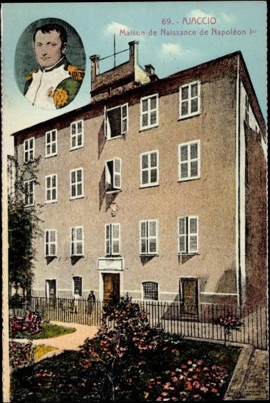 Carte postale ajaccio corse du sud maison de naissance for Maison de naissance remiremont