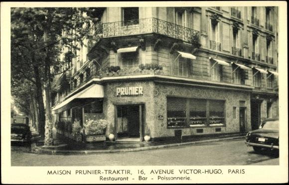 Carte postale paris maison prunier traktir 16 avenue - Victor hugo paris 16 ...