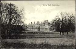 Postcard Kettering East Midlands, Kirby Hall, Sheep grazing