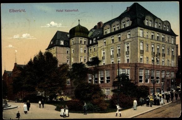 Ansichtskarte postkarte elberfeld wuppertal partie am for Hotel wuppertal elberfeld