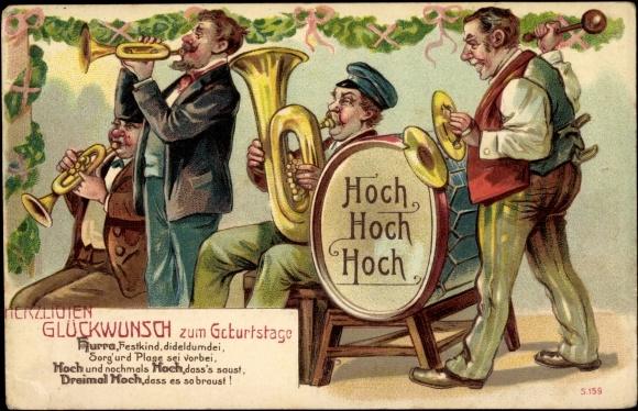 Glückwünsche Zum Geburtstag Mit Musik, Zweistein | deutsch