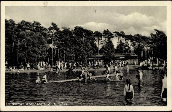 Ansichtskarte postkarte arendsee altmark freibad for Schwimmbad stendal