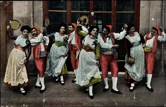 taorminese - Старинная итальянская одежда на открытках.