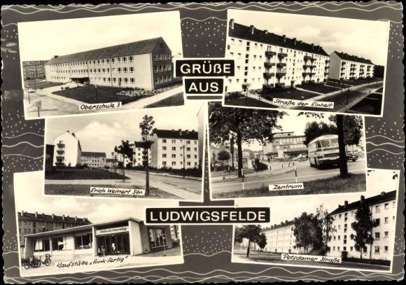 ansichtskarte postkarte ludwigsfelde oberschule 3 erich. Black Bedroom Furniture Sets. Home Design Ideas