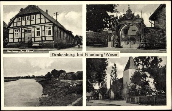 ansichtskarte postkarte drakenburg nienburg weser. Black Bedroom Furniture Sets. Home Design Ideas