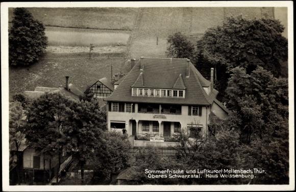 ansichtskarte postkarte mellenbach glasbach th ringen haus weissenburg. Black Bedroom Furniture Sets. Home Design Ideas