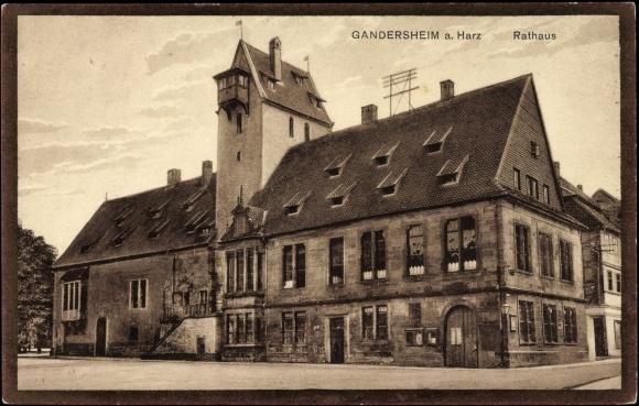 ansichtskarte postkarte bad gandersheim harz blick auf. Black Bedroom Furniture Sets. Home Design Ideas