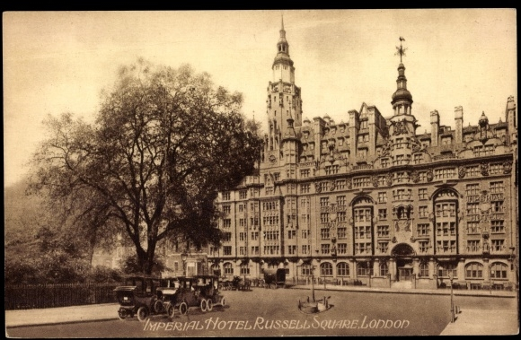 postcard london city imperial hotel russell square. Black Bedroom Furniture Sets. Home Design Ideas