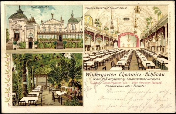 Litho chemnitz sch nau wintergarten flora saal total - Wintergarten chemnitz ...