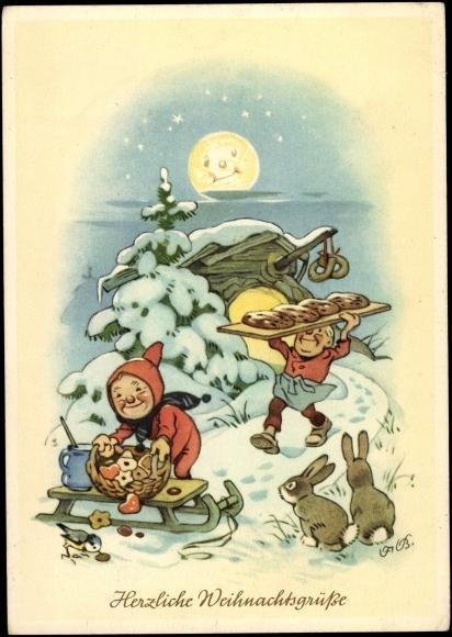 ansichtskarte postkarte frohe weihnachten lebkuchen. Black Bedroom Furniture Sets. Home Design Ideas