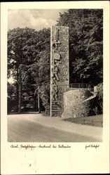 Postcard Kiel Holstein, Ansicht des Seesoldatendenkmals