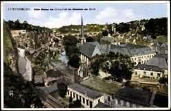 Postcard Luxemburg, Ville Basse du Grund, Rochers du Bock