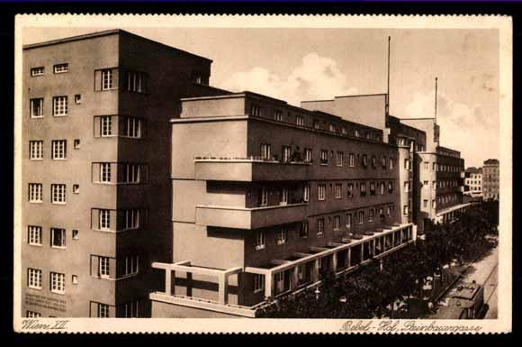Postcard wien 12 bezirk bebel hof steinbergstra e Markisen bauhaus wien
