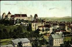 Postcard Füssen Lech, Blick über die Stadt, Kloster, Schloss