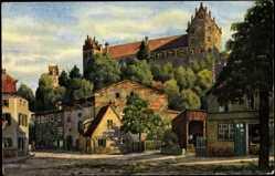 Künstler Ak V. Marschall, Füssen,Partie a.d. Stadtmauer