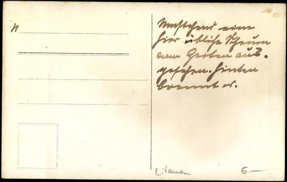 photo postcard litauen holzhaus bauernhof garten. Black Bedroom Furniture Sets. Home Design Ideas
