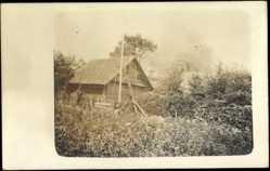 Foto Ak Litauen, Holzhaus, Bauernhof, Garten