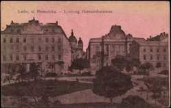 Postcard Lwow Lemberg Ukraine, Ul Hetmanska, Platz, Häuser