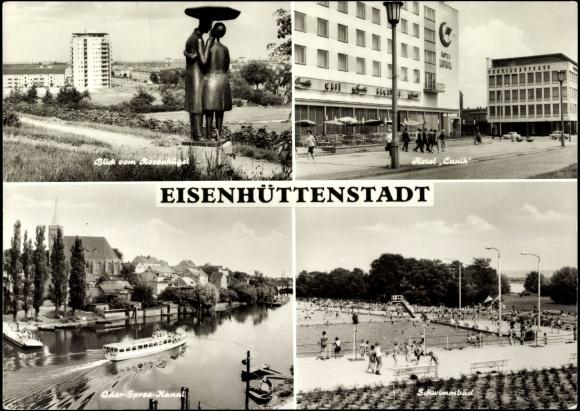 ansichtskarte postkarte eisenh ttenstadt hotel. Black Bedroom Furniture Sets. Home Design Ideas