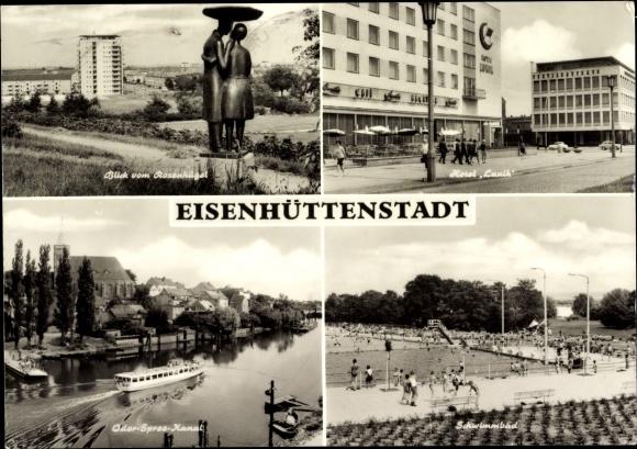 Ansichtskarte Postkarte Eisenh 252 Ttenstadt Blick Vom