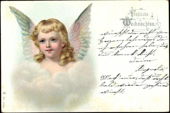 ansichtskarte postkarte frohe weihnachten engel. Black Bedroom Furniture Sets. Home Design Ideas