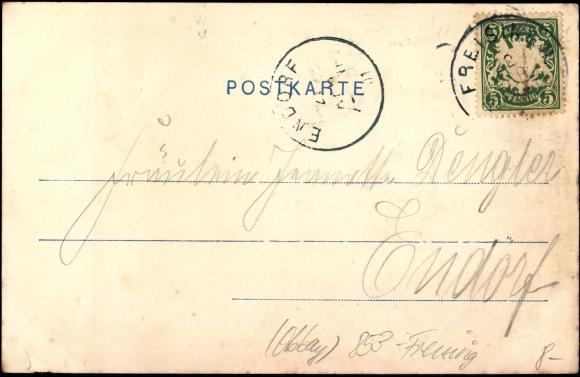 Backside Postcard Neustift Freising in Oberbayern, Ansicht der Kaserne, Panorama