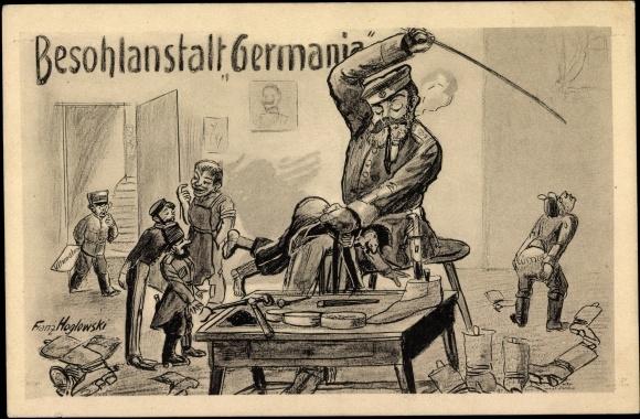 Artiste Carte postale Besohlanstalt Germania, Soldat